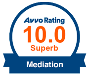 Avvo Rating 10.0 Superb Mediation